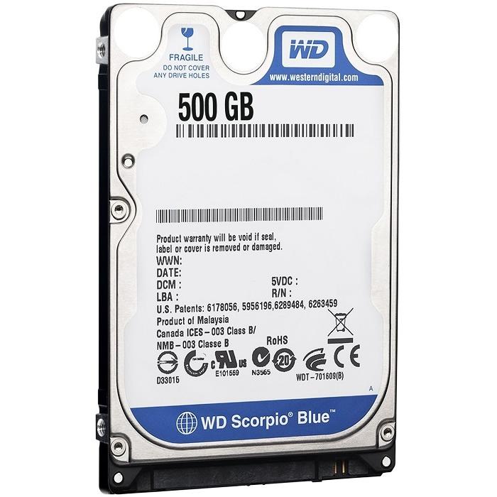 "DISCO DURO INT WD 500GB BLUE 2,5"""