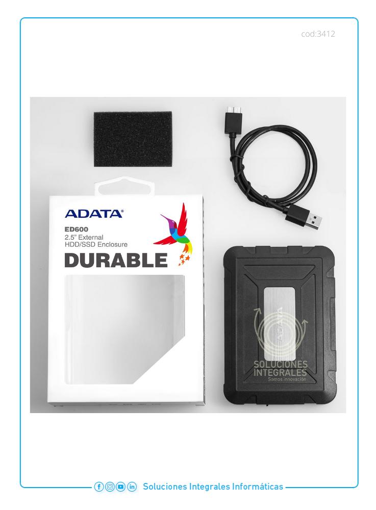 ENCLOSURE EXTERNO 2.5 ADATA  USB 3.0