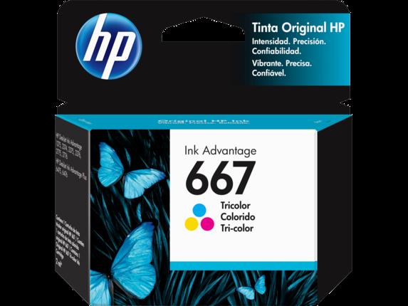 CARTUCHO HP ORIGINAL 667 TRICOLOR