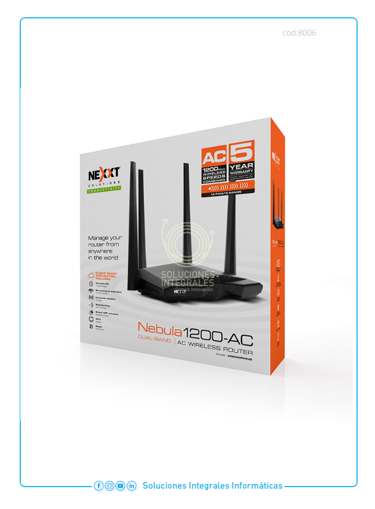 ROUTER NEXXT 1200MBPS 2 ANT.